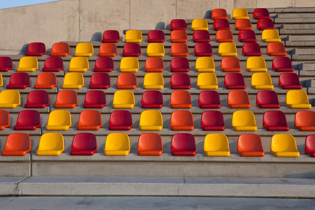 Architekurfotografie Sportstadium, Kortrijk Belgien