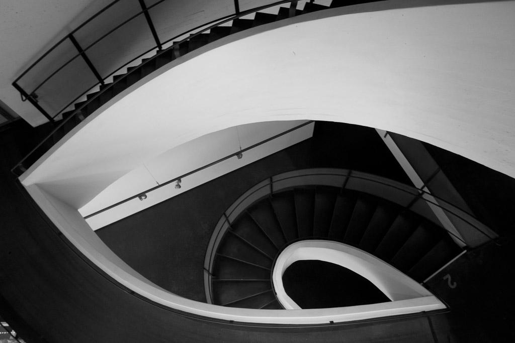 Architekturfotografie Innenaufnahme im Museum of Contemporary Art Kiasma, Helsinki, Architekt Steven Holl