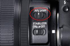 Auto Fokus am Objektiv aktivieren AF Autofokus Canon 5D II Mark MF Manuelle Fokussierung