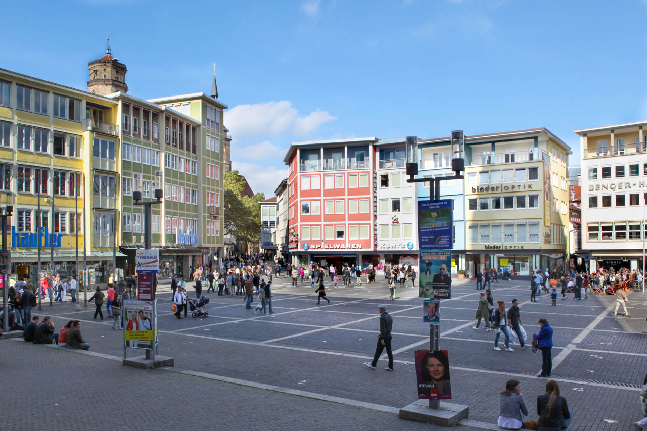 Marktplatz Stuttgart: Konzeptionelle Foto Stuttgart- Arbeiten - Bildnerische Gestaltung des Fotografen