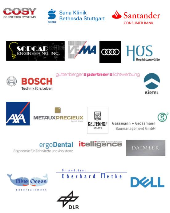 Referenzen und Publikationen Stuttgart Fotografie: Bosch, Axa Audi, Metaux Precieux, Ergo Dental, itelligence Daimler, Hos Rechtsanwälte, Dell, Blue Ocean, DLR