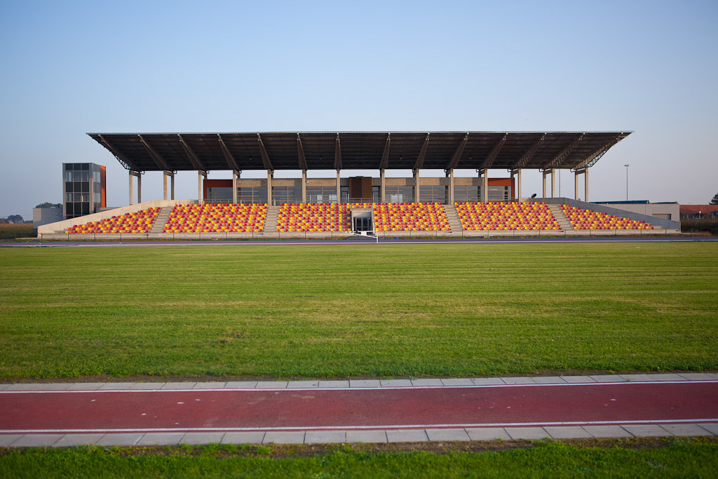 Architekurfoto Sportstadium, Kortrijk Belgien