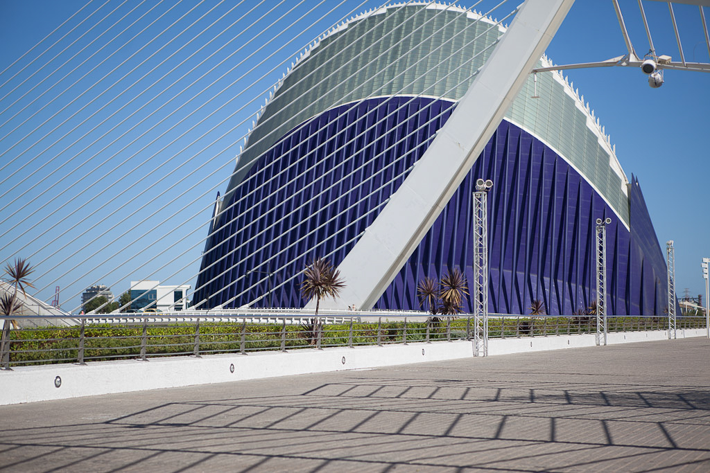 Architecture photography shows contemporary architecture in Valencia